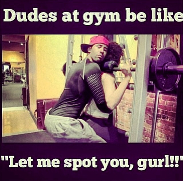 Picking up guys at the gym