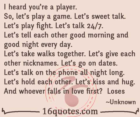 Can a player fall in love