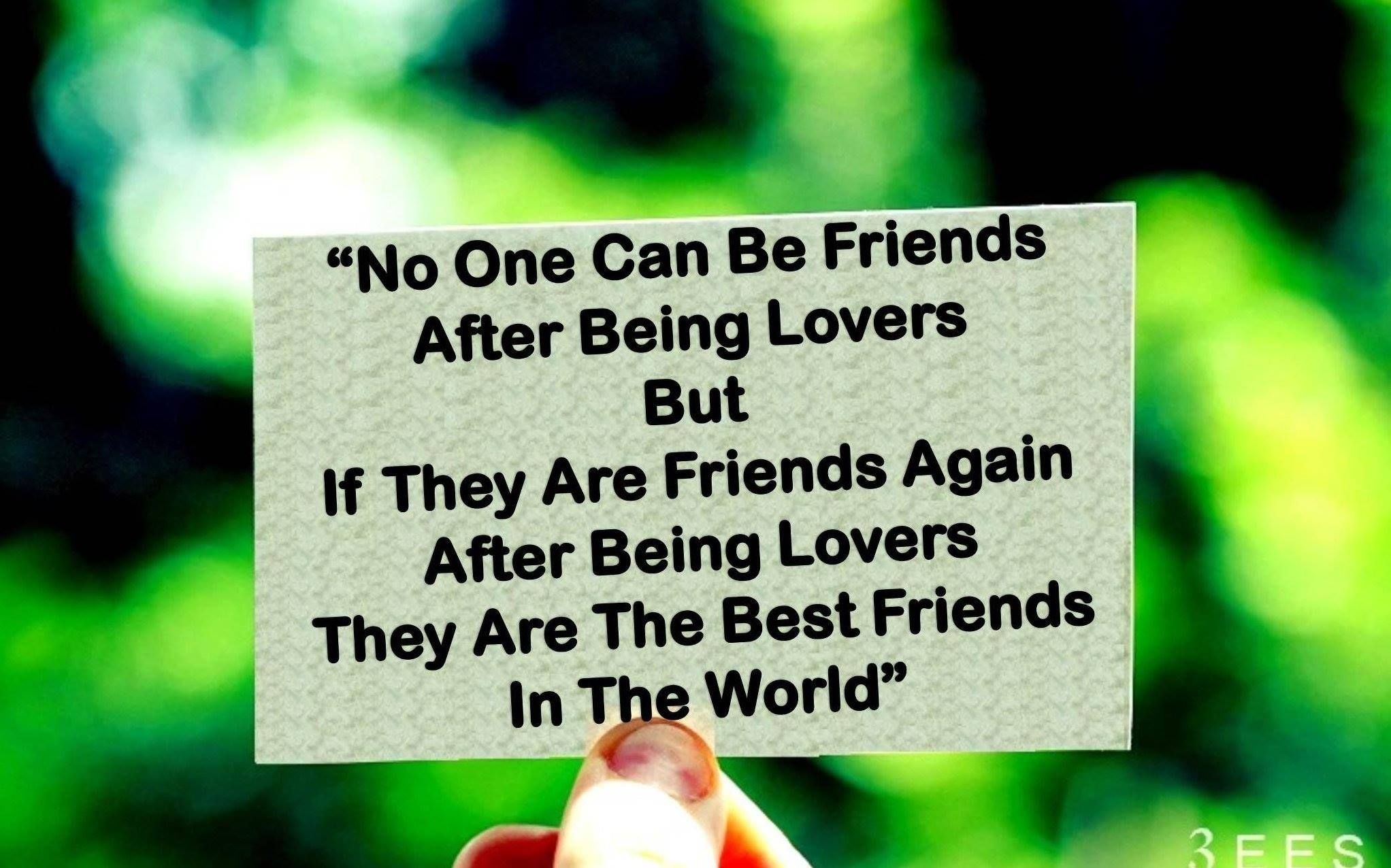 Can friends be lovers