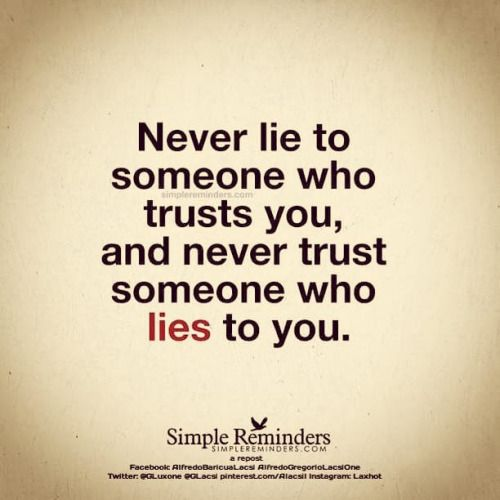 Can you ever trust a liar