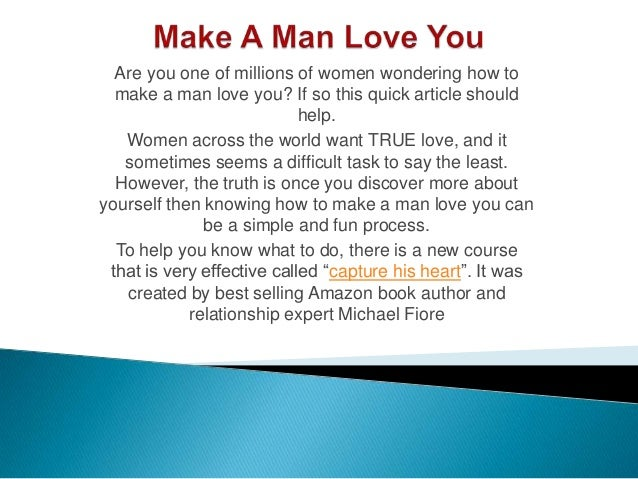 How do you a man loves you