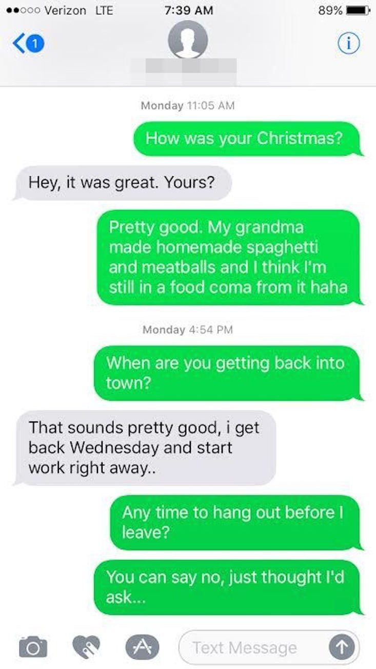 Guy ghosted and came back