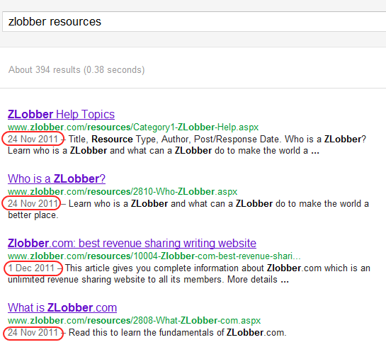 Google search by date