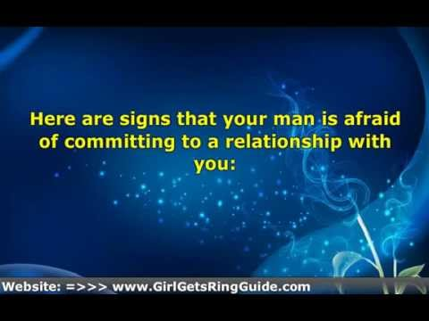 Why are men afraid of commitment
