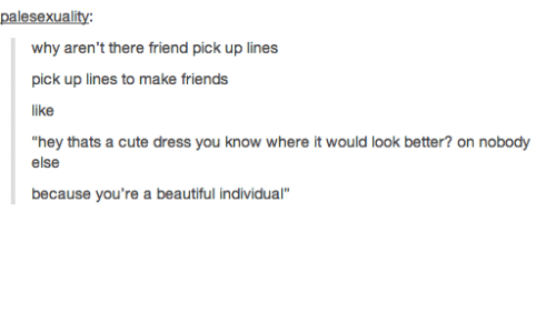 Pickup lines for friends