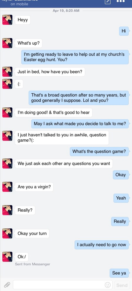 What to ask a boy in 20 questions