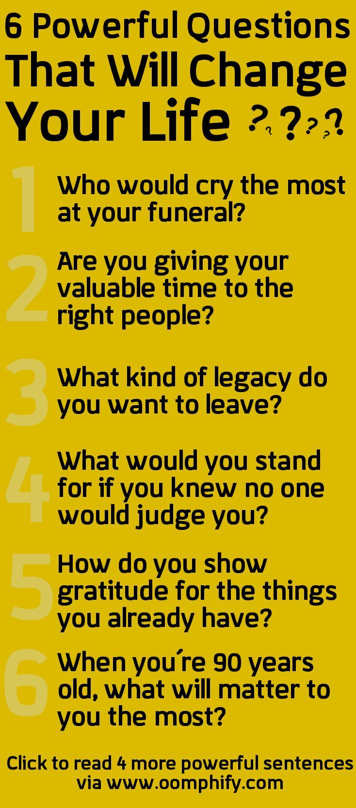 Spiritual questions to ask yourself