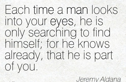 If a guy looks into your eyes