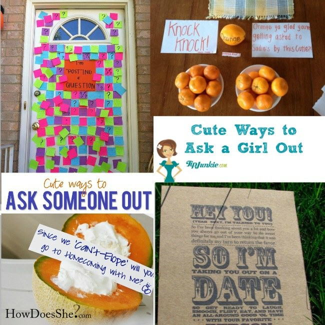 Creative ways to ask a girl out