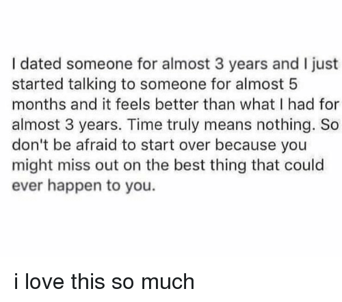 Dating for 3 years