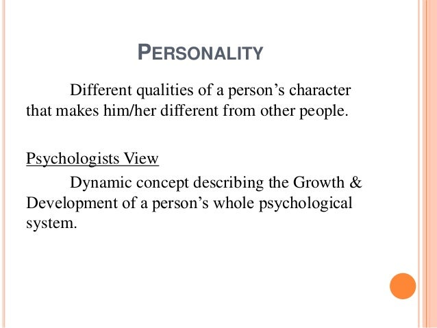 Different qualities in a person