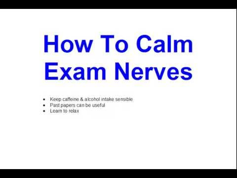 How to calm yourself when nervous