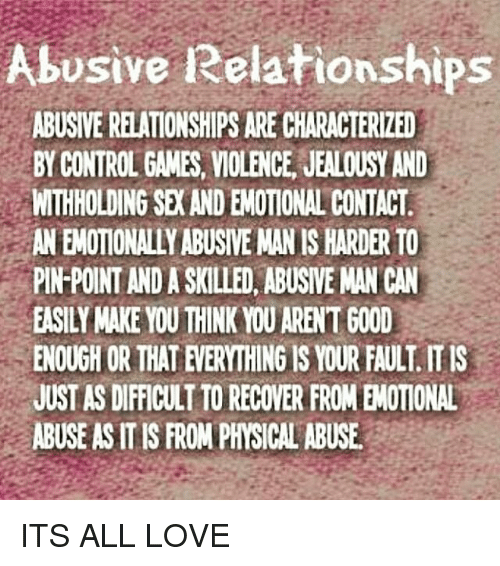 Withholding sex emotional abuse