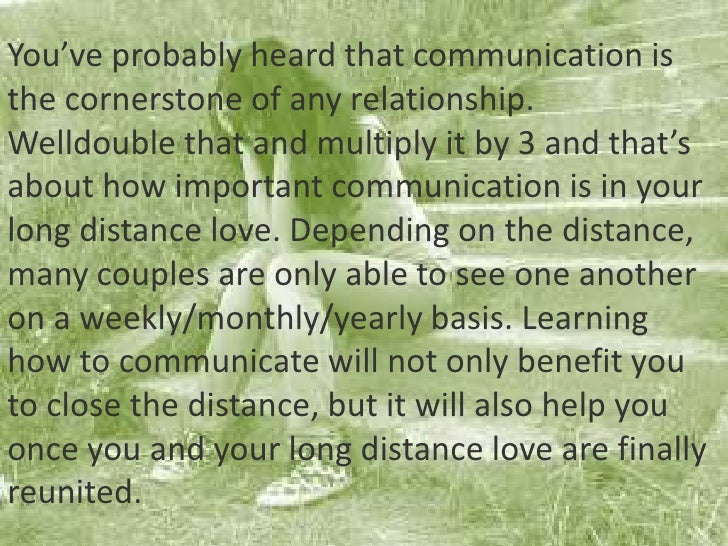 Dealing with long distance relationship