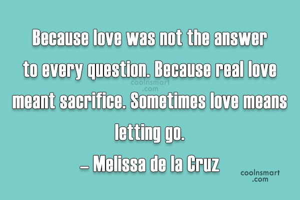 Definition of sacrifice in love