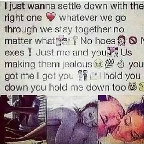 Definition of settling down in a relationship