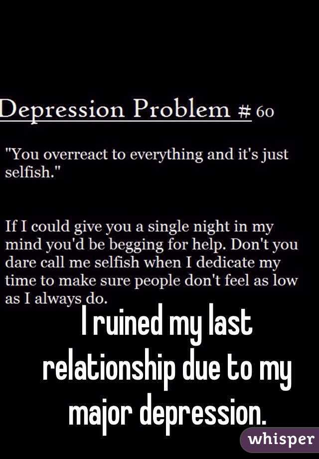 Depression due to relationship