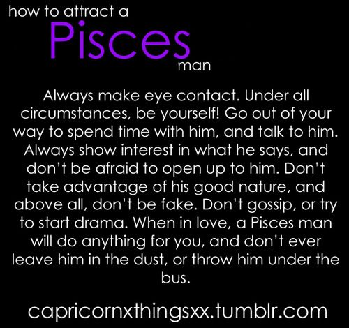Pisces man being distant