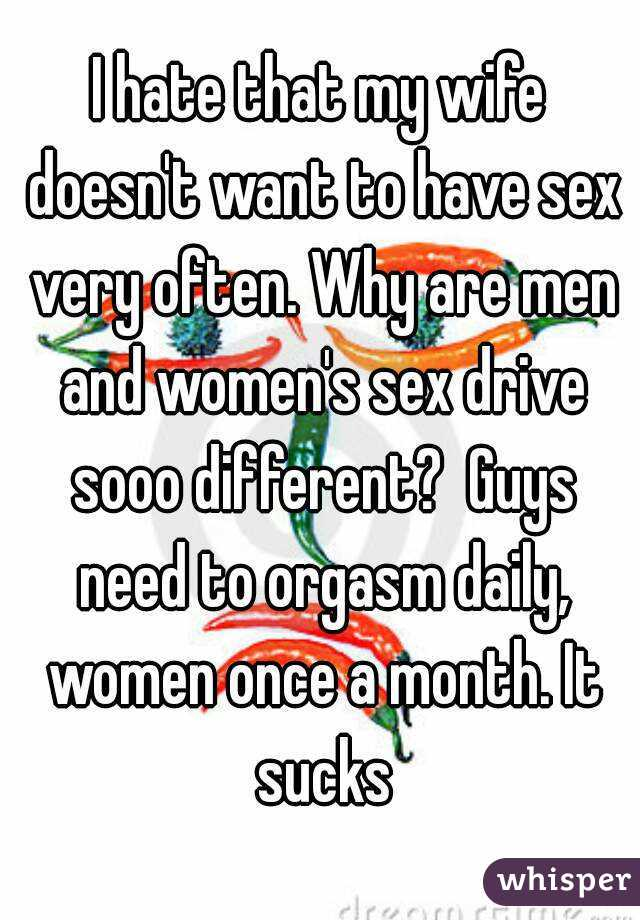 Sex do men everyday need 5 Things