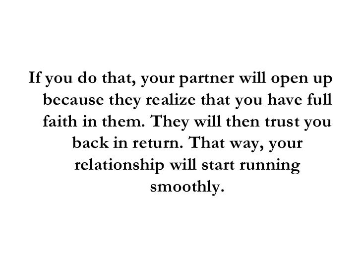 How to open up in a relationship