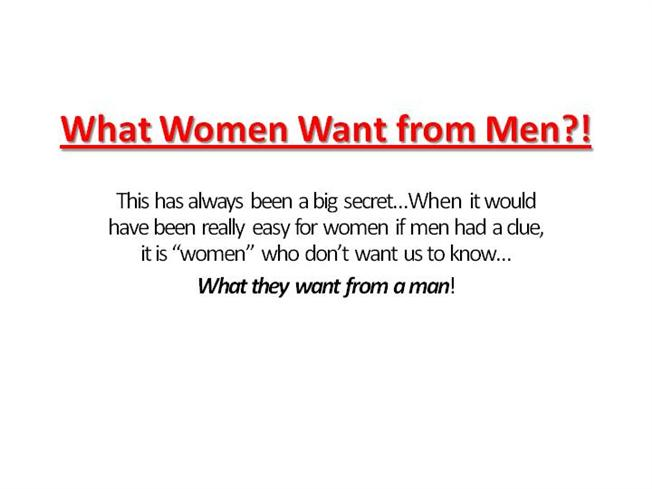 What women want from men