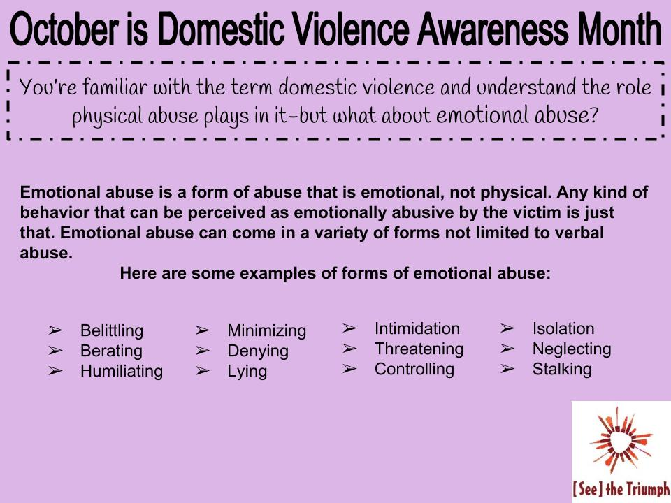 Emotional abuse in a relationship
