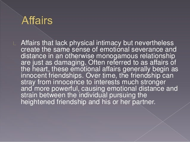 Emotional affairs of the heart
