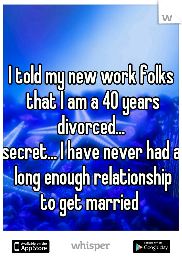 Never had a relationship at 40