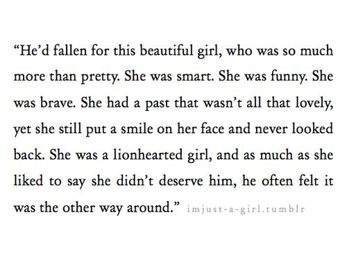 Falling for a girl