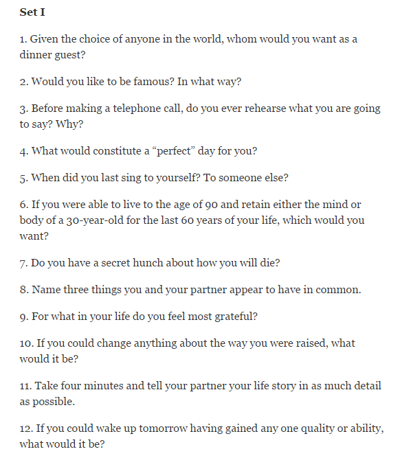 Questions to get to know someone deeply