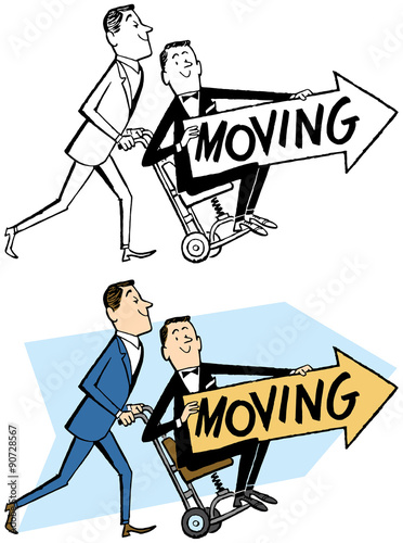 We re moving sign