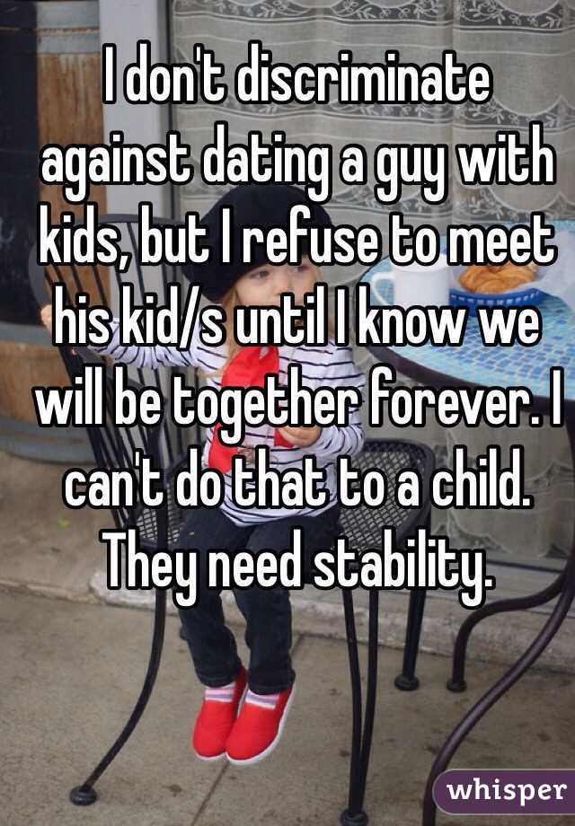 Dating a guy with a child