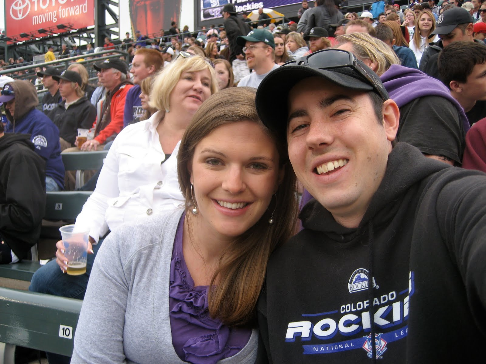 First date at a baseball game