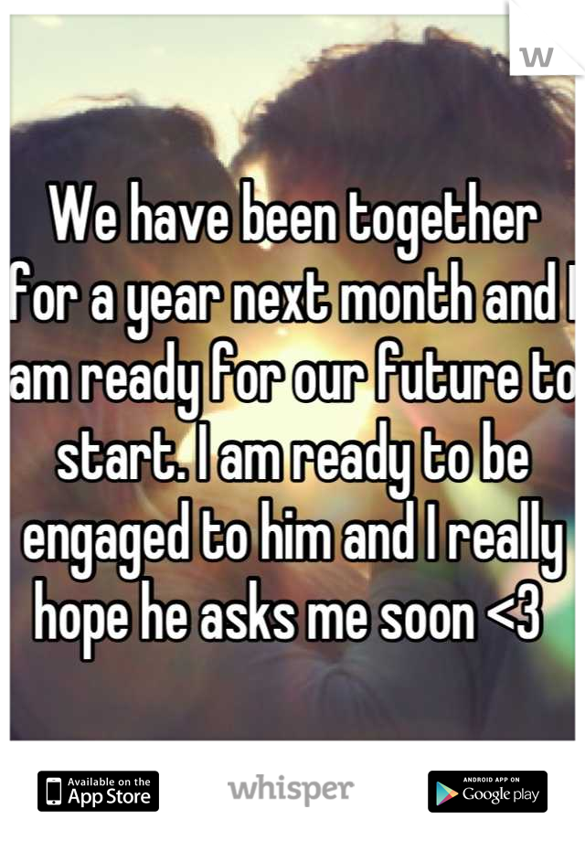 Are we ready to get engaged
