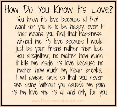 How to know its love