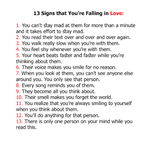How do u know your falling in love