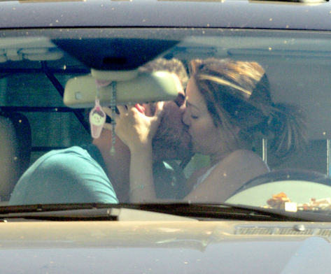 First kiss in the car