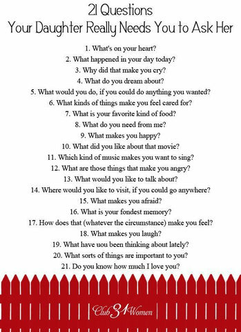 Good questions to ask during 21 questions