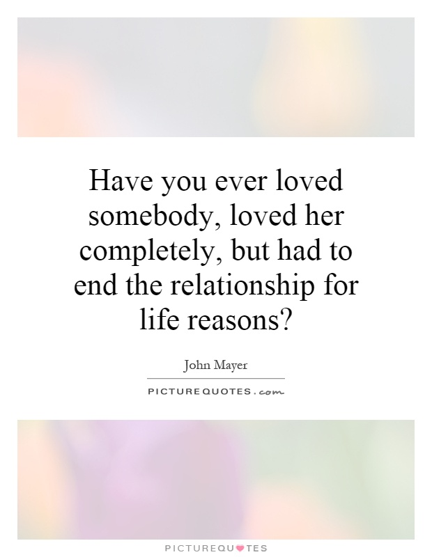 Good reasons to end a relationship