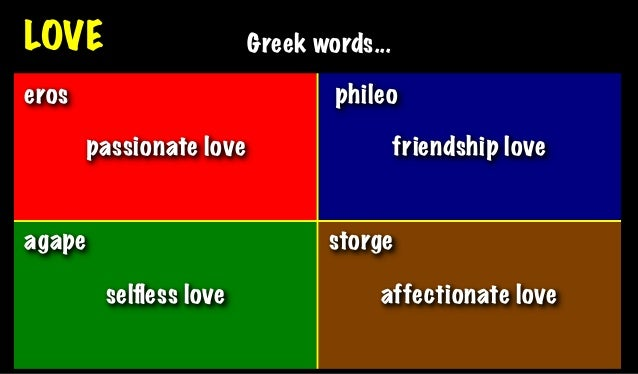 Greek definitions of love