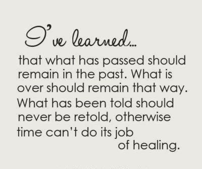 Healing and moving on