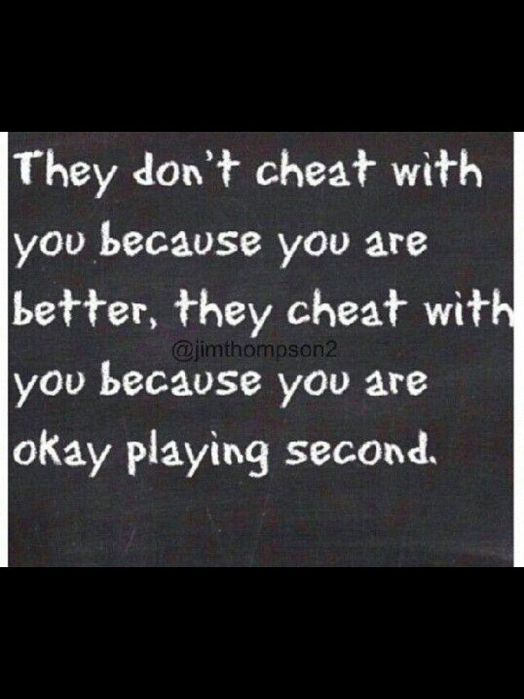 How do you know if you re being cheated on
