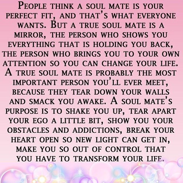 How do you know someone is your soulmate