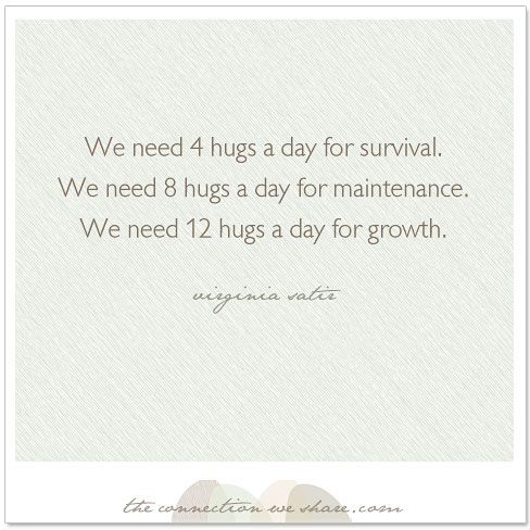 How many hugs a day do we need