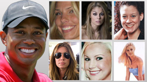 How many women did tiger cheat with