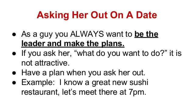 How to ask a girl out on a date