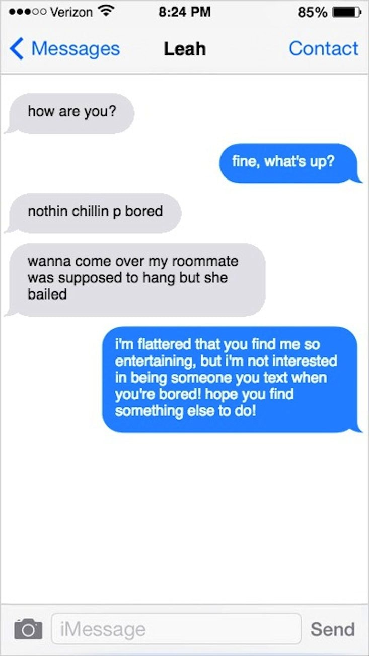 How to break up over text