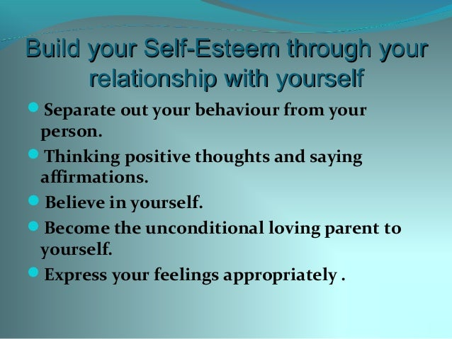 How to build your self esteem in a relationship