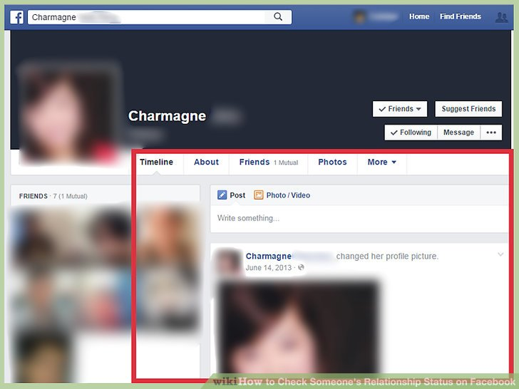 How to check relationship status on facebook