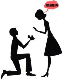 How to draw a man proposing